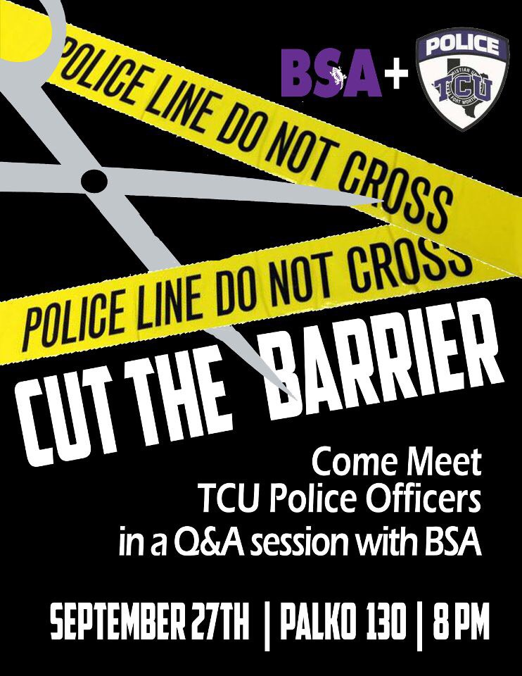 Cut the barrier forum with TCU Police